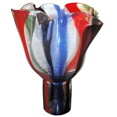 """Vintage Murano Vase """"Kukinto"""" Timo Sarpaneva Venini 1991 