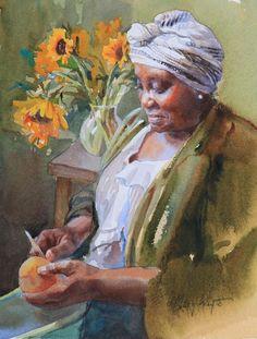 Beautiful female portrait paintings ##portraiture