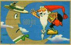 Julekort Gunnar Bratlie stemplet 1960 Utg Aune