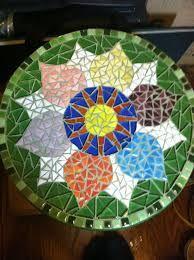 mosaic mandala foot stool - Google Search