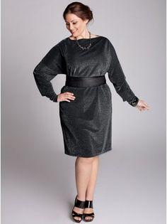 Kaori Plus Size Infinity Dress in Black Lurex - Sale Rack by IGIGI