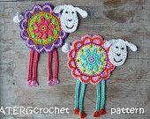 Häkeln Sie Muster Blume Schaf by ATERGcrochet