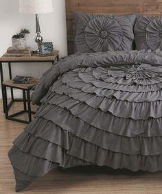 Take a look at this Gray Sadie Comforter Set today!