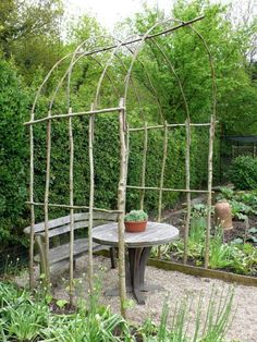 Sleuth: Willow Accessories for the Cottage Garden Oh Yes . Living Willow Arbour with Found Sticks in your BackYard (or your neighbors)Oh Yes . Living Willow Arbour with Found Sticks in your BackYard (or your neighbors)