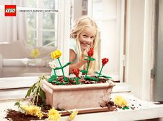 Lego: Flowers  Creativity forgives everything.  Advertising Agency: Grey, Paris, France