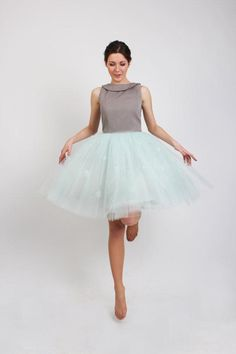 For those of us who believe you're never to old for tulle, an irresistibly pretty party dress. #etsy
