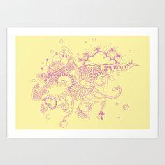 doodle Art Print by Duru Eksioglu - $15.00