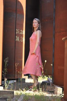 """Kleid """"Drape"""" - elegantes Kleid, one shoulder für den besonderen Moment"""