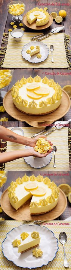 Tarta de limón sin horno / https://www.corazondecaramelo.es/