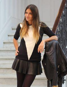 Me encanta la falda de cuero!