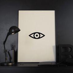 Eye #poster #print #minimal #blackandwhite #scandinavian #nursery #minimalist #kidsroom #posters #prints #geometric #quote #quotes #quoteprint #wallart #decor #home #gift #homedecor #decoration #design #illustration #nordic #creative #buy #valentine #holiday #halloween #christmas #posterart #printart #giclee #fineart #artprints #northshire