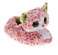 94cab0fce01 Beanie Boos Girls Slippers Faux Fur Sophie Cat Kitty X Large Shoe Size Ty  Beanie Boos Cancun Girls Slipper