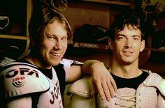 Awww so young! Peter Forsberg and Joe Sakic, Colorado Avalanche Peter Forsberg, Hockey Boards, Hockey Hall Of Fame, Hockey Baby, Hockey Season, Sport Of Kings, Hockey Stuff, Hockey Games, Colorado Avalanche