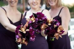 dramatic-bridesmaid-bouquets These are the flowers  I want for my bridesmaids! Gorgeous!!!