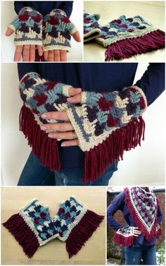 How To Crochet Arrow Tails Finger-less Gloves – Free Pattern - 54 Free Crochet Fingerless Gloves Pattern for Beginners - DIY & Crafts Crochet Scarves, Crochet Shawl, Crochet Clothes, Free Crochet, Knit Crochet, Simple Crochet, Fingerless Gloves Crochet Pattern, Fingerless Mittens, Knitted Gloves