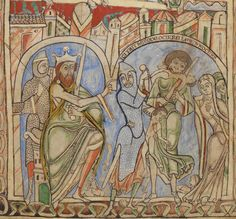 King Herod orders the massacre of the innocents, The Winchester Psalter, mid 12th century, British Library Cotton MS Nero C IV