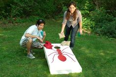 Heat up your summer barbeques with the popular beanbag-toss game called cornhole. We've got your DIY instructions here. | Photo: Room 5 Films | thisoldhouse.com