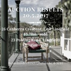 Two properties told at auction today. #auctionresults #realestate #lindfield #eastlindfield #richardsonandwrench #randwlindfield #jessicacao #sellinghouses #northshoremums