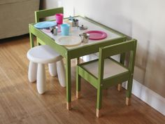 Before & After: Painted Ikea Latt Table & Mysig Canopy | Paperseed