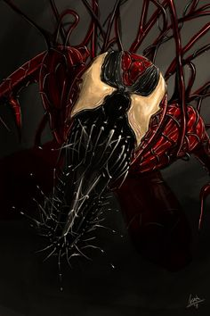 Fan art of carnage Comic Book Characters, Marvel Characters, Comic Character, Comic Books Art, Comic Art, Marvel Venom, Marvel Vs, Marvel Dc Comics, Marvel Heroes
