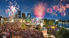 Melbourne, Australia. New Years Fireworks Jan 2013 (NYE)