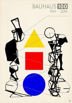 Jacek Todil, poster 70x100cm, 2019 Bauhaus Art, Bauhaus Design, Graphic Design Posters, Graphic Art, Theo Van Doesburg, Moholy Nagy, Walter Gropius, Fruit Illustration, Type Setting