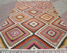 VINTAGE tapis turc Kilim tapis Kilim tapis tissés à la main, loic Design, tapis décoratif, tapis Vintage 77,5 x 127,1 po.