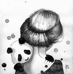 Panda & Maiden Ink Illustrations: I Never Used Ink Before And I Truly Enjoyed It | Bored Panda