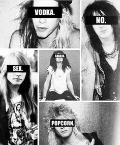 ❝Photobook❞[Guns N' Roses] Guns N Roses, Hair Metal Bands, 80s Hair Bands, Axl Rose, Music Memes, Music Humor, Metallica, Rock Argentino, Duff Mckagan