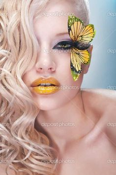 yellow butterfly makeup