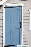blue shed door Shed Storage, Tall Cabinet Storage, Blue Shed, Shed Makeover, Garage Shed, Shed Doors, Potting Sheds, Shed Design, Pool Houses