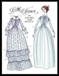"""Legacy Pride, Volume I Number II; Children's Classic Books & Movies: Louisa May Alcott's """"Little Women:"""" Jo March, a paper doll by Donald Hendricks (1 of 2)"""