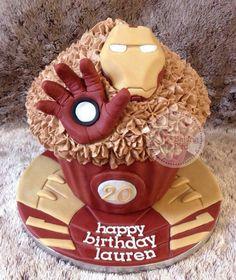 Iron Man giant cupcake