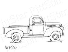 26 Old Truck Coloring Pages Truck Coloring Pages, Colouring Pages, Coloring Books, Kids Coloring, Vintage Trucks, Old Trucks, Lifted Trucks, Monster Truck Birthday, Printable Adult Coloring Pages