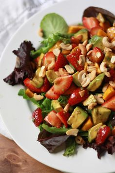 Summer Salad with Balsamic-Lime Dressing I One Lovely Life