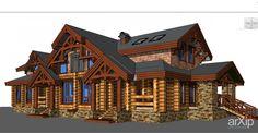 Дом Тимбер: архитектура, 2 эт   6м, жилье, кантри, 300 - 500 м2, каркас - дерево, фасад - дерево, коттедж, особняк #architecture #2fl_6m #housing #country #300_500m2 #frame_wood #facade_wood #cottage #mansion