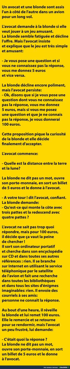Ah lala les blagues de blondes on ne s'en lasse pas ! Funny Art, Funny Jokes, Hilarious, Lol, Funny Images, Funny Pictures, Rage, Image Fun, Happy Fun