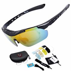 Cycling Glasses 5 Lens Windproof Anti-fog With Mypia Frame Sport MTB Bike Bicycle Polarized