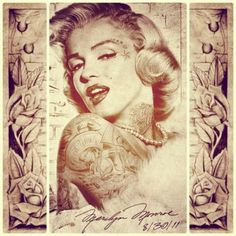 1000 images about tattoo ideas on pinterest skulls and for Marilyn monroe with tattoos poster