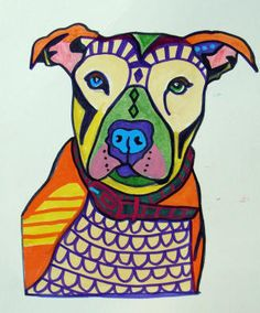 pop art dog Pit Bull Dog Pop Art Print Poster by HeatherGallerArt, $24.00