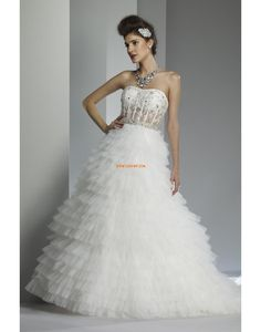 Elégant & Luxueux Sans manches Zip Robes de mariée 2014