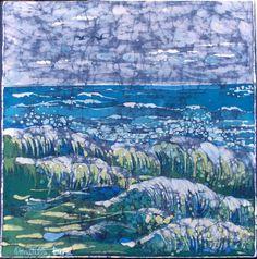 quadro dipinto a mano batik su cotone