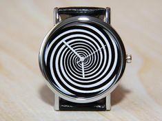 Watch spiral wristwatch infinity black and white wrist