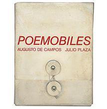 Poemóbiles. Super icone da Poesia Concreta. Augusto de Campos e Júlio Plaza (autografado pelos dois artistas)  1ª edição. 1974 R$ 14.000 Desapê | Arte