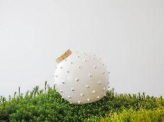 Piggybank/ Modern designed spiky ceramic blowfish jar/ jar for