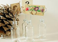 Labware Clear Soda Glass Bottle Bud Vases and Photo Holders on Etsy, $10.00