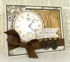 Moments In Time - Flourishes Friday by Bar - Cards and Paper Crafts at Splitcoaststampers Masculine Birthday Cards, Birthday Cards For Men, Handmade Birthday Cards, Masculine Cards, Greeting Cards Handmade, Male Birthday, Happy Birthday, Boy Cards, Cute Cards