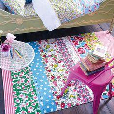 Daisy Stripe Peony Kids Area Rug - Designers Guild   Burke Decor