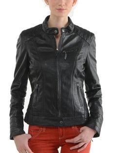 Pristine Leather Womens Real Lambskin Leather Black Blazer Coat Jacket WJ-030