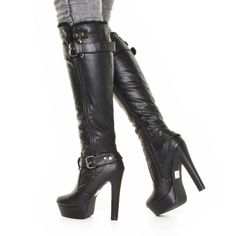 Killer Rock & Republic high heels. Studded and sexy biker chic ...